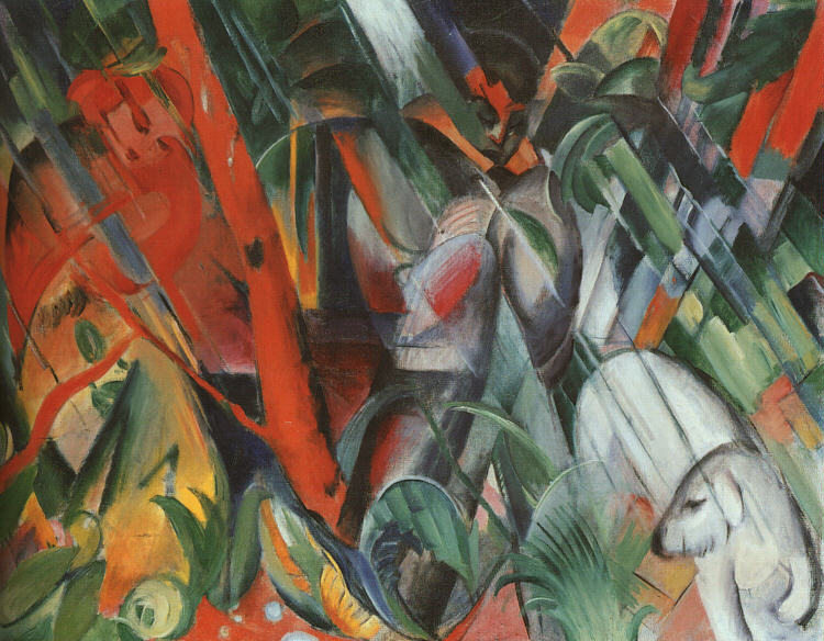Franz Marc: In the rain, 1912