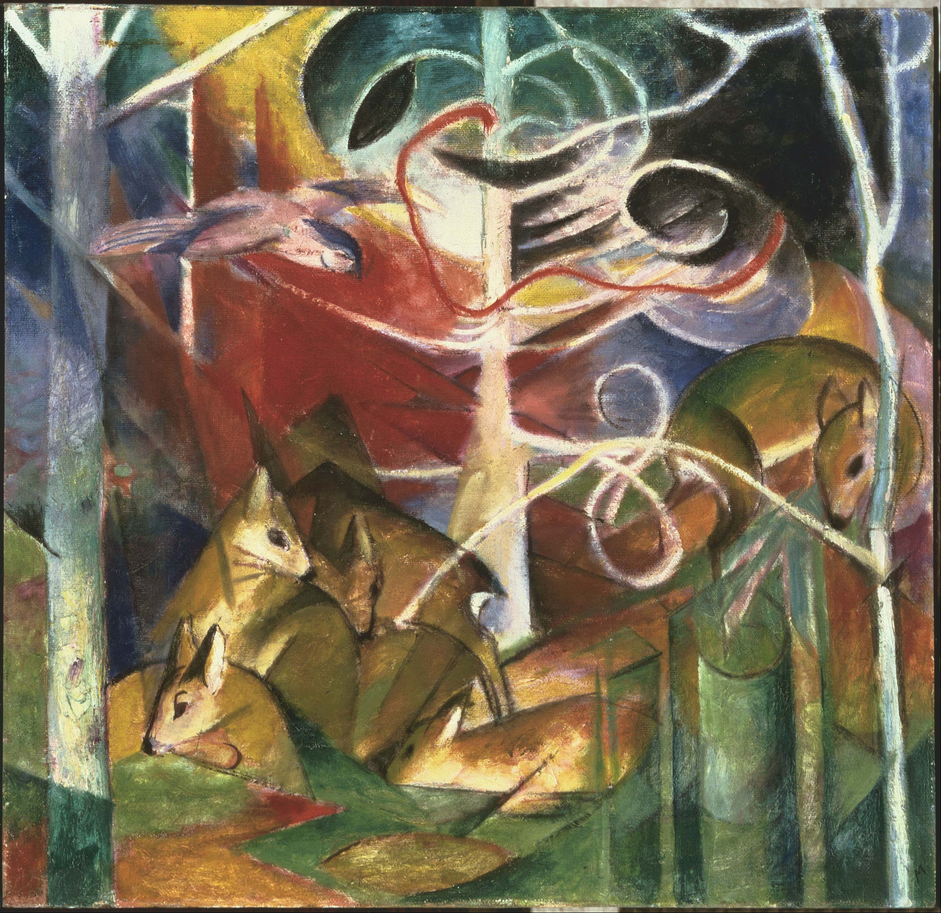 Fraz Marc: Dear in the Forest I, 1913
