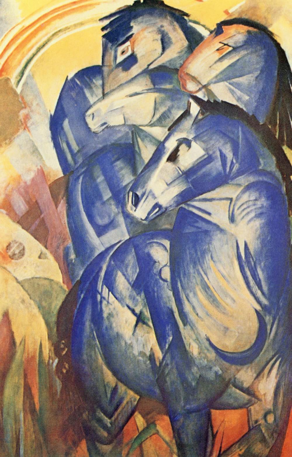 Franz Marc: Der Turm der blauen Pferde, 1913