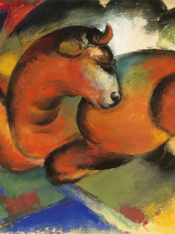 Franz Marc: Roter Stier, 1912