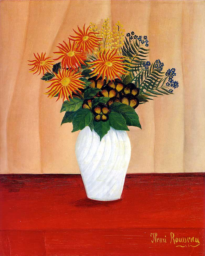Henri Rousseau: Bouquet of Flowers_(Tate_Gallery)