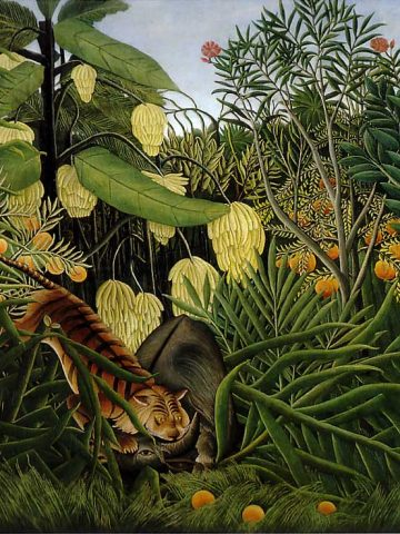 Henri Rousseau: Fight Between a Tiger and a Buffalo, 1908