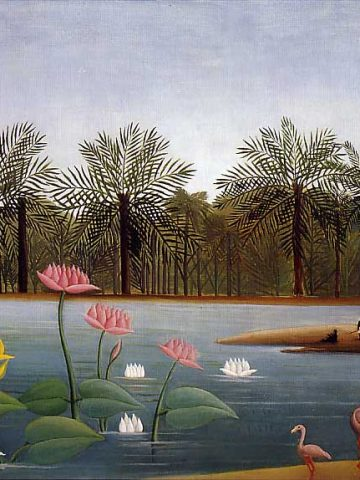 Henri Rousseau: The_Flamingos