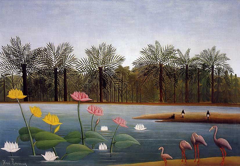 Henri Rousseau: The_Flamingos