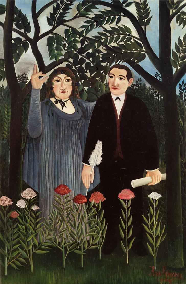 Henrie Rousseau: La muse inspirant le poète